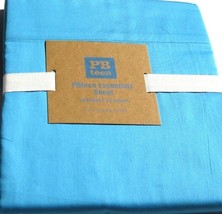 Pottery Barn Teen Essentials FLAT Sheet Teal Blue XL Twin F300 Thread Ct... - $22.75