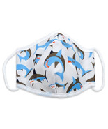 Shark Print Reusable | Washable Double Layer Cloth Adult Face Mask - $11.95