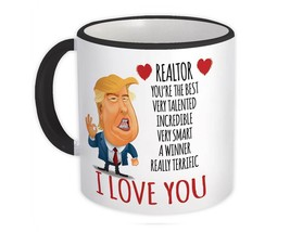 REALTOR Gift Funny Trump : Mug Love Realtor Birthday Christmas Jobs Real... - $13.37+