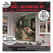 Asylum Scene Setters Mega Value Wall Decoration Kit Halloween - $15.39