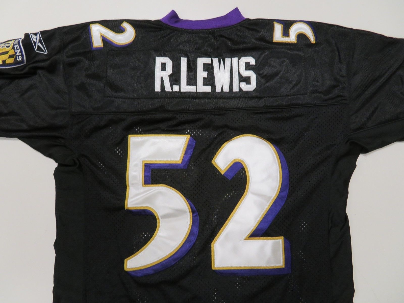 Reebok Baltimore Ravens  52 Ray Lewis Jersey Sz 50 Black Sewn Stitched 028521f31