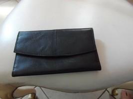 Black clutch Genuine Leather wallet  - $11.99