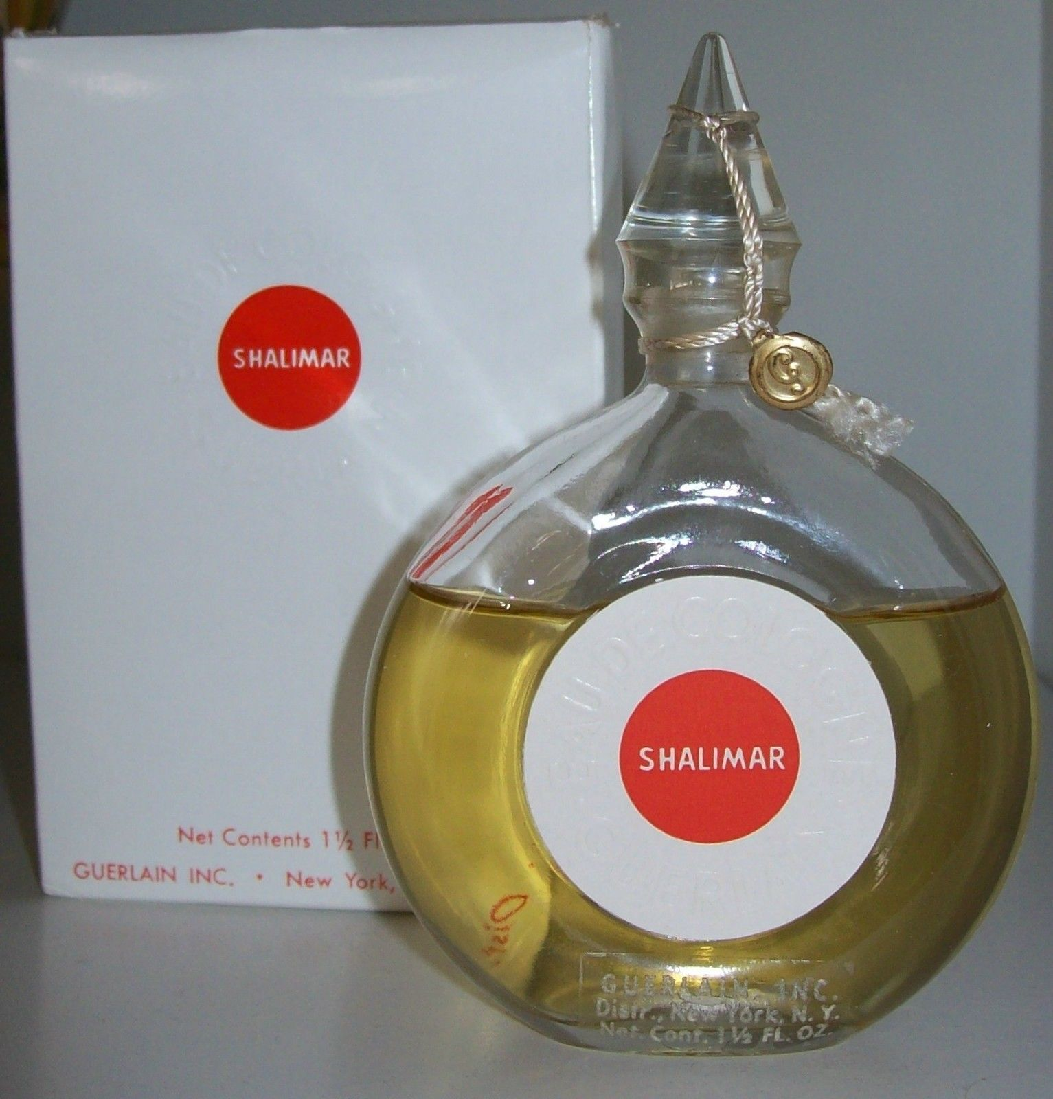 Vintage Guerlain Shalimar Eau De Cologne15 And 50 Similar Items Parfum 90ml Fl Ozsealed Bottle With Boxfrance