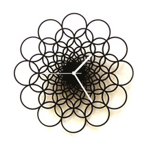 Large size unique contemporary wooden wall clock - Rings L - $109.00