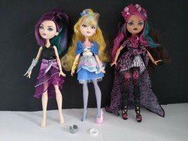 Lot of 3 Ever After High Dolls  Briar Rose,  Blondie Lockes & Raven Queen - $75.00
