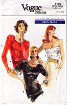 Vintage 1987 Vogue Pattern 7109 KNIT TOPS / TUBE TOP Misses' Size 6-8-10... - $12.99