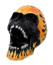 Flame Hot Rod Skull Ashtray Statue Halloween Decor - $26.68