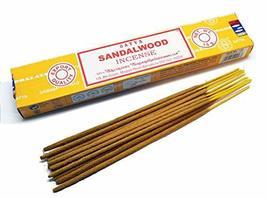 ABN Fashion Satya Sandalwood Sticks Incense Natural Fragrance Hand Rolled Indian - $17.54