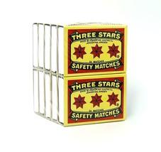 Swedish Match, Three Stars Safety Matches, 10 pack BEST DEAL ON EBAY! - $6.43