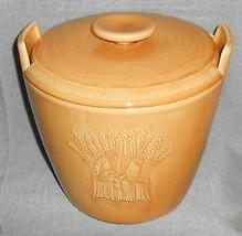 Franciscan LIGHT GOLD WHEAT PATTERN Cookie Jar w/Lid MADE IN CALIFORNIA - $69.29