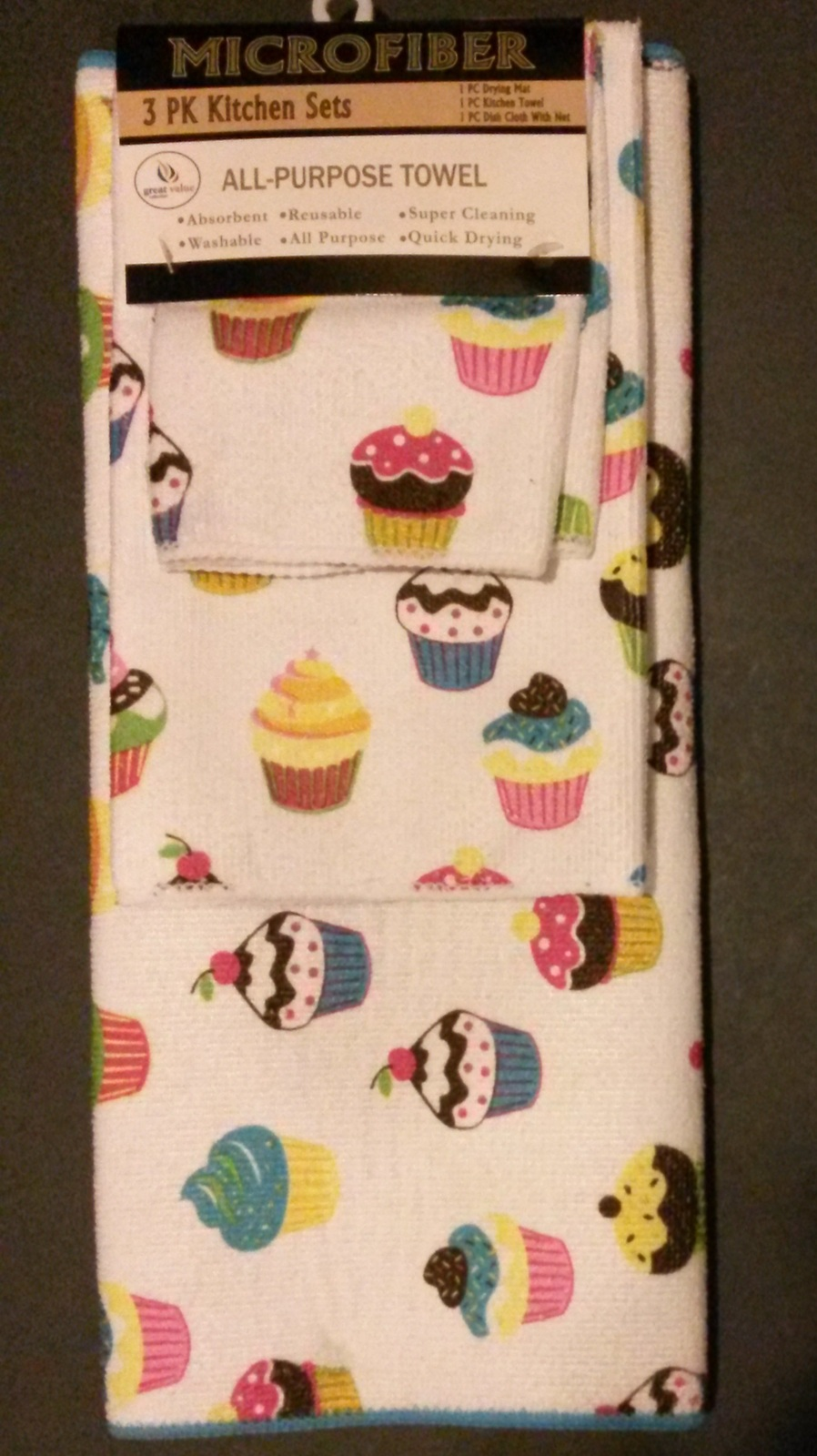 Cupcakes towels 7pc 4