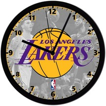"""Los Angeles Lakers LOGO Homemade 8"""" NBA Wall Clock w/ Battery Included - $23.97"""