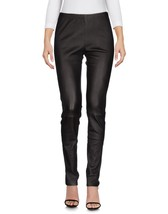 New Trendy High Waist Women's 100% Genuine Soft Lambskin Slim Fit Leather Pants
