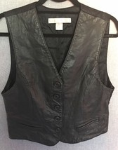 THE LIMITED 100% Leather Vest Women's Size M, B... - $19.80