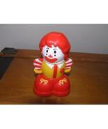 Rare Fisher Price Red White Yellow Duplo Size Building Block Ronald McDo... - $18.52
