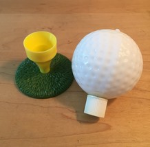 70s Avon Tee Off oversize golf ball and tee bottle (Spicy After Shave) image 2