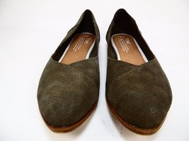 Toms Women's Jutti Flat Casual Shoe Tarmac Olive Size 7W - $82.23