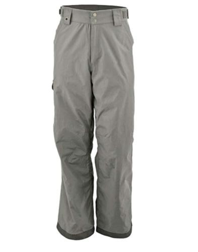 "Medium Men's White Sierra Soquel Ski Shell Winter Pants 32"" Inseam Castle Rock"