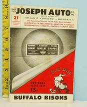 1960 Buffalo Bisons Minor League Score Card vs Toronto Unscored - $29.65