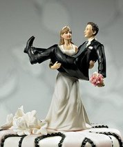 To Have and to Hold Bride and Groom Cake Topper Style 9020 - $33.93
