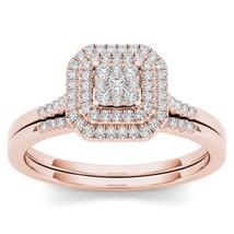 IGI Certified 10k Rose Gold 0.25Ct Diamond Marquise Halo Engagement Ring... - $429.99