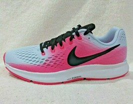 Nike Women Air Zoom Pegasus 34 Running Shoes Light Blue/Black/Pink 880560-41 6 - $58.95
