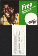 Vintage carton stuffer 7 UP dated 1979 Magic Johnson #1 Los Angeles Lake... - $9.99
