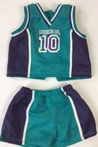 American Girl Doll Pleasant Company Basketball Outfit Set Purple White Green 2pc - $16.44