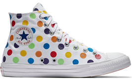 Converse Pride X Miley Cyrus Rainbow Chuck High Polka Dot Women Size 8.5 New - $118.95