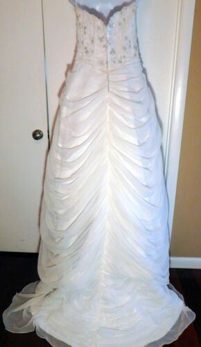 ALFRED SUNG Designer Ivory Beaded Exquisite Wedding Bridal Dress Sz 10
