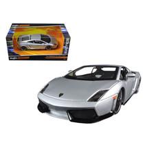 Lamborghini Gallardo LP 560-4 Silver Exotics 1/24 Diecast Model Car by Maisto... - $36.54