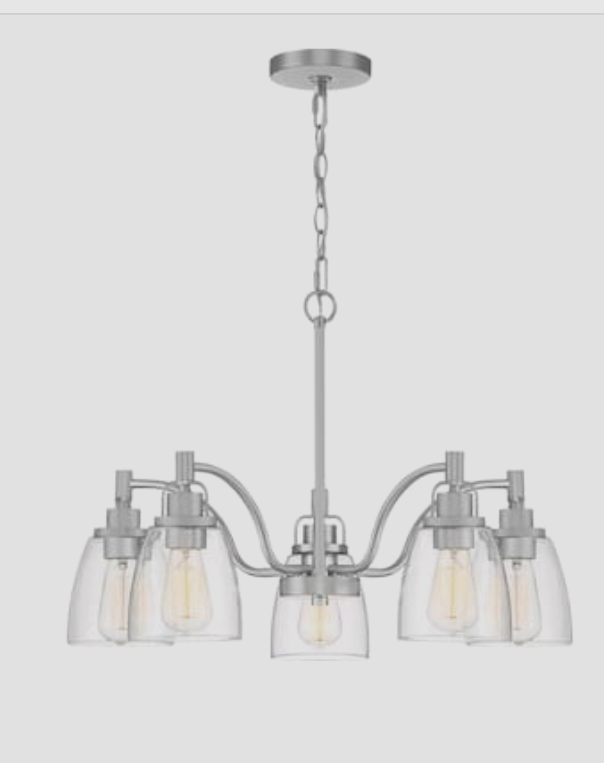 Primary image for Quoizel Bradbury 5-Light Brushed Nickel Traditional Chandelier