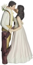 Rustic Couple Porcelain Figurine Wedding Cake Topper Blush Dress - $49.12
