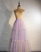 Women Layered Long Tulle Skirt Outfit Rainbow Color Plus Size Princess Outfit image 3