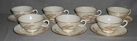 Set (7) Lenox HARVEST PATTERN Cups and Saucers MADE IN USA - $49.49