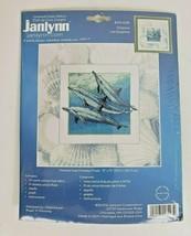 Janlynn Dolphins Counted Cross Stitch Kit 013-0293 Reinardy size 13x13 Blue - $14.99