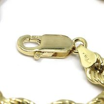 """18K YELLOW GOLD CHAIN NECKLACE 7 MM BIG BRAID ROPE LINK, 19.70"""", MADE IN ITALY image 3"""
