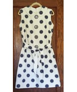 Vintage Shift Dress Size Large 14/16 Cotton Twill Buttons Pockets Union ... - $120.00