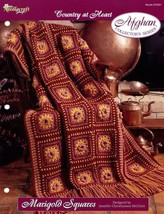 Marigold Squares Afghan TNS Country at Heart Crochet PATTERN/INSTRUCTION... - $2.67