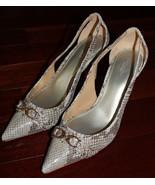 COACH Theo Soft Printed Snake Leather High Heels sz 9M - $69.99