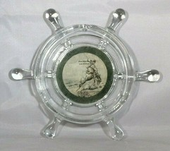 "Souvenir Phoenix Arizona Ashtray Glass Boat Steering Wheel 6.75"" Across ... - $5.00"