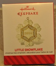 Hallmark - Little Snowflake - Porcelain - 2014 Miniature Keepsake Ornaments - $9.23