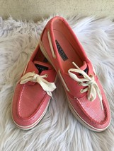 Sperry Top Sider Women's Boat Shoe Size 7M Pink Coral Sequin EUC - $38.60