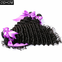 Peruvian Deep Weave Hair Bundles 100% Human Hair Extensions 1Pc 100g 10-... - $5.23+