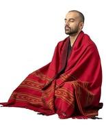 Meditation Shawl by Om Shanti Crafts | Prayer Shawl for Daily Meditation... - $39.99