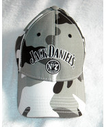 New Jack Daniels Whiskey baseball hat Camouflage Gray Black White Strap ... - $34.60