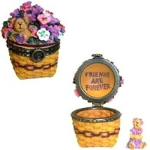 "Boyds Treasure Box ""Petunia Basket"" #392168LB- May Series- Longaberger L... - $39.99"