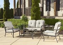 Cosco Outdoor 5 Piece Serene Ridge Aluminum Patio Furniture Conversation... - $1,348.76