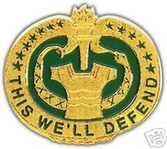 Army Di Drill Instructor Gold Green Color Lapel Pin - $13.53