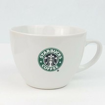 Starbucks Large Jumbo White Coffee Latte Mug Cup 18 oz Mermaid Logo 2007... - $7.91